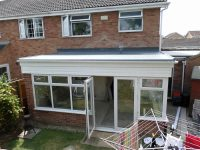 conservatory roof GRP flat roof