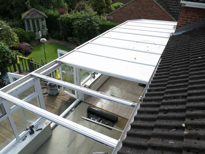 Conservatory roof replaced