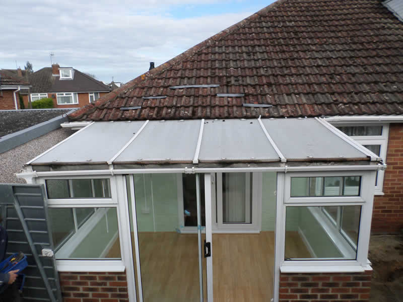 Old conservatory roof needs to be replaced