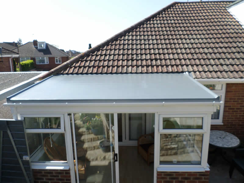 New GRP conservatory roof
