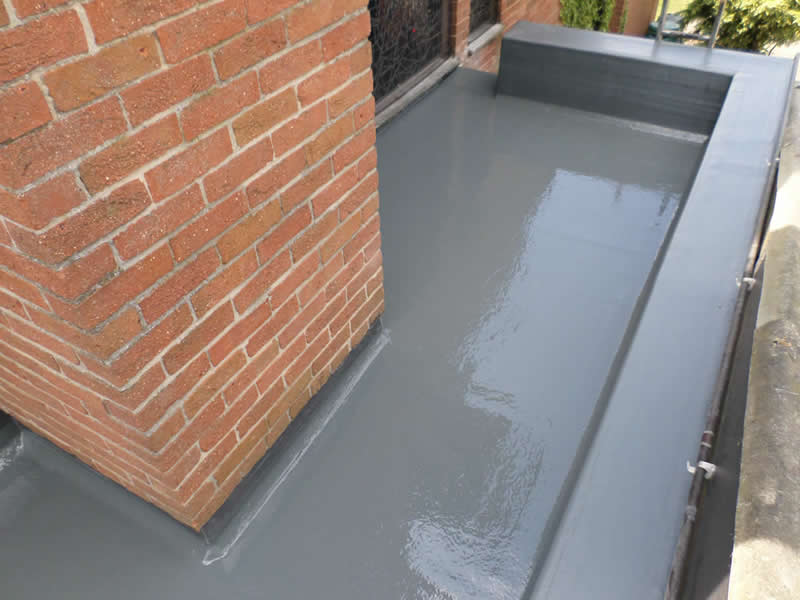 fibre glass roof around chimney stack