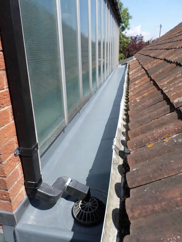grp roofing gutter