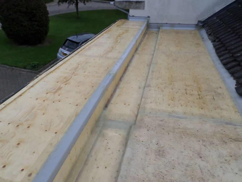 GRP fibreglass flat roof structure