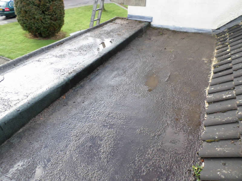 flat roofing needs replacement