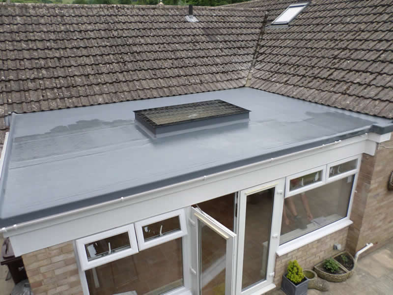 Flat Roof With Skylight Four Seasons Roofing