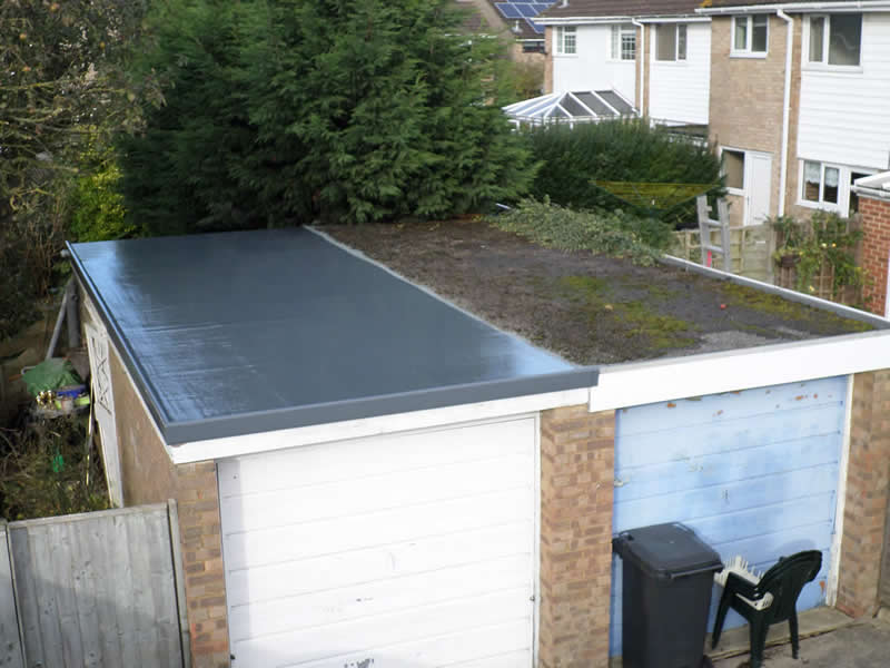 GRP flat garage roof