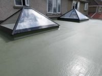 GRP roofing pyramid windows