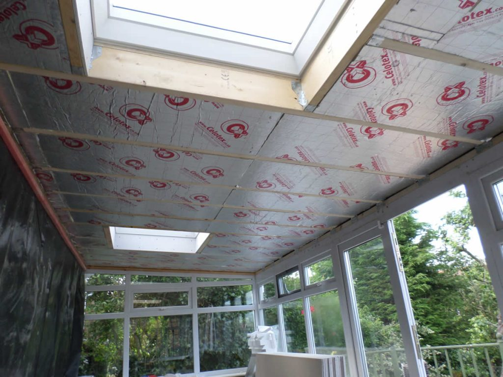 new conservatory roof inside