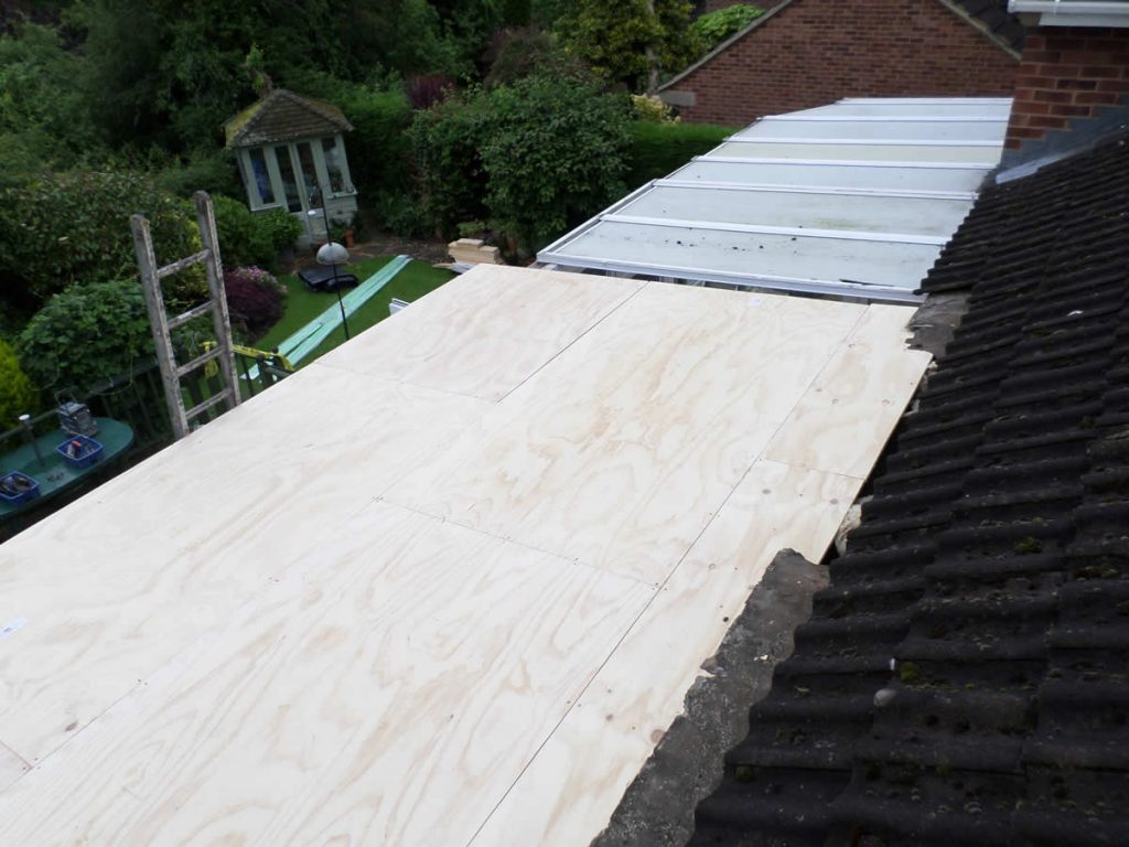 new roof on conservatory