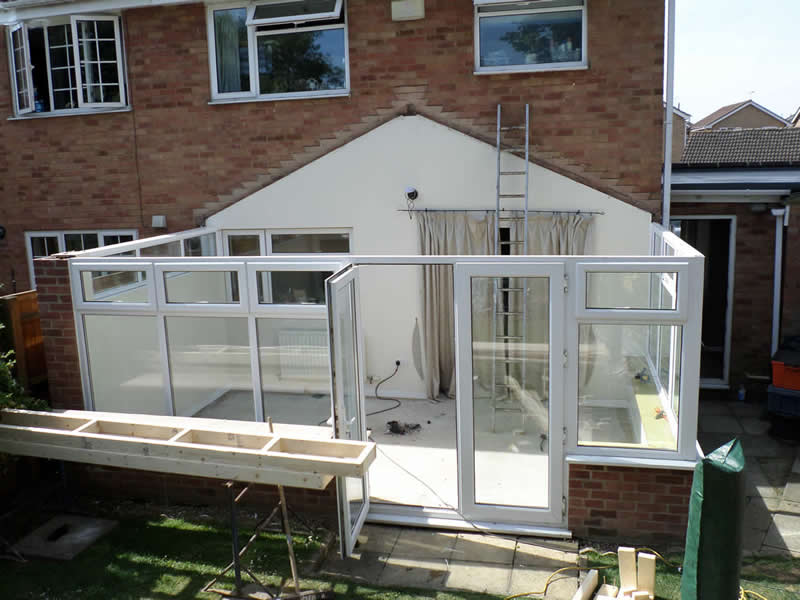replacement conservatory roof with GRP