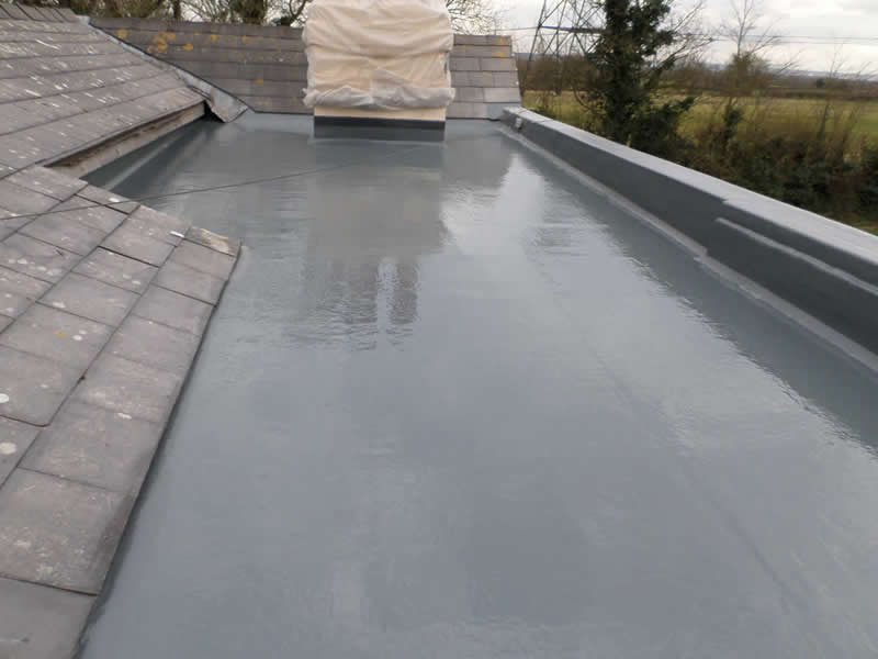 Flat Roofing made of fibreglass