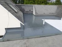 shiny new grp roof