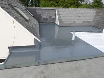 shiny new grp roof