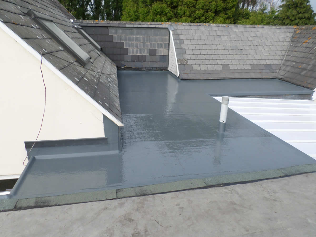 Flat roofing GRP